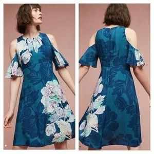 Anthropologie Maeve Cold Shoulder Dress